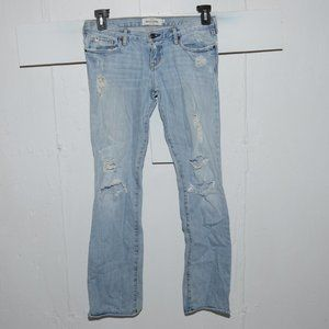 Abercrombie destroyed girls jeans size 16